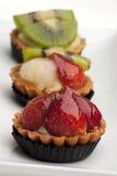 Tartas de la fruta foto de archivo libre de regalías