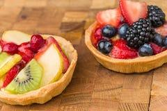 Tartas de la fruta Fotos de archivo libres de regalías