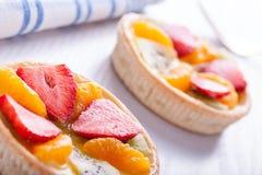 Tartas de la fruta del verano Fotos de archivo libres de regalías