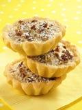 Tartas dulces de la pacana fotografía de archivo