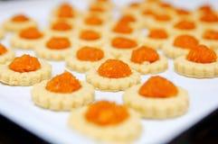 Tartas hechas en casa recientemente cocidas al horno de la piña Imágenes de archivo libres de regalías