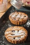 Tartas hechas en casa, recientemente cocidas de la torta dulce de Blackberry Imágenes de archivo libres de regalías