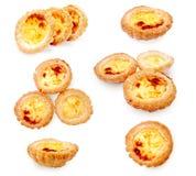 Tartas portuguesas del huevo Fotografía de archivo libre de regalías