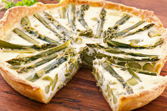 Tarte with asparagus Stock Photo