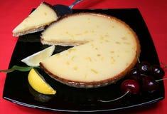 Tarte au Citron. A tasty home made lemon tart royalty free stock images