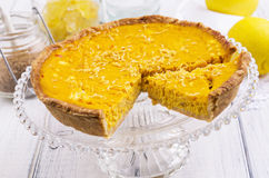 Tarte au Citron Royalty Free Stock Photo