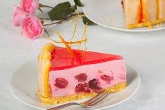 1 1/2 tarte aux cerises Photos libres de droits
