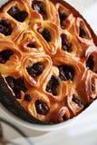 Tarte aux cerises 07 de boulangerie Images stock
