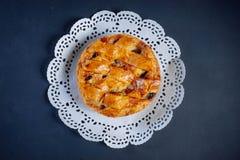 Tarte aux pommes à la rosette Photo stock