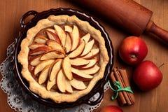 Tarte aux pommes Photographie stock