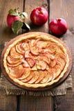 Tarte aux pommes de cuisson de fruit Photographie stock libre de droits