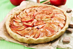 Tarte aux pommes de fruit Photo libre de droits