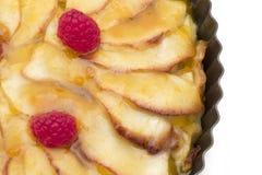 Tarte aux pommes organique Photographie stock libre de droits