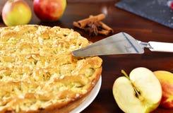 Tarte aux pommes ou gâteau aux pommes délicieuse Photo libre de droits