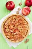 Tarte aux pommes, vue supérieure Photo stock