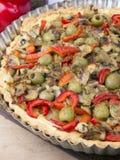 Tarte avec des champignons Image stock