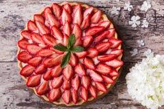 Tarte avec des fraises Images libres de droits