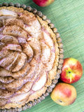 Tarte avec des pommes Image libre de droits
