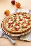 Tarte avec du fromage et des tomates de moutons Images libres de droits