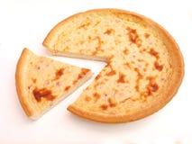 Tarte avec le lard et le fromage Photographie stock libre de droits
