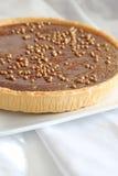 Tarte belge de chocolat et de caramel Image libre de droits