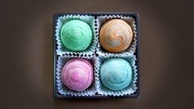 Tarte chinoise croustillante colorée de lune Images libres de droits