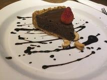 Tarte cru de chocolat Gâteau de mousse Image stock