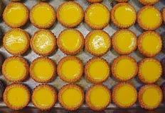 Tarte délicieuse de crème anglaise d'oeufs en Asie Photos stock