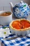Tarte d'abricot Photographie stock libre de droits