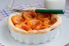 Tarte d'abricot Photographie stock