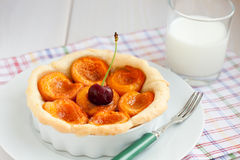 Tarte d'abricot Photo stock