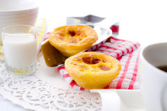 tarte d'oeufs Photos libres de droits