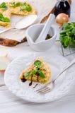 Tarte d'oignon Photos stock
