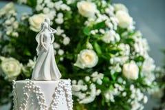 Tarte d'ornement de gâteau de mariage Photographie stock