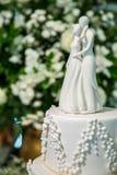 Tarte d'ornement de gâteau de mariage Photos libres de droits