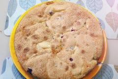 Tarte de abóbora caseiro para a ação de graças, torta de Apple Foto de Stock Royalty Free