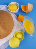 Tarte de abóbora com vitrificação do limão Foto de Stock