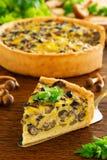 Tarte de champignon avec du fromage Images libres de droits