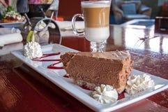 Tarte de chocolat Photographie stock libre de droits