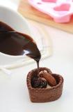 Tarte de chocolat Image libre de droits