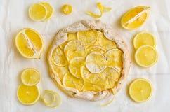 Tarte de citron Photos stock