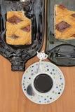 Tarte de coing, coupe, recette d'Italien et d'Argentin appelée photos libres de droits