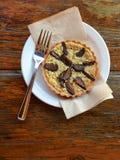 Tarte de figue et de pistache à la boutique de pâtisserie Photographie stock