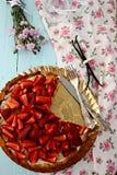 Tarte de fraise Photos libres de droits