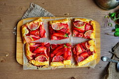 Tarte de fraise Image libre de droits