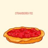 Tarte de fraise Illustration Libre de Droits
