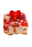 Tarte de fraise. Beau gâteau avec des fraises. Objet d'isolement. Photographie stock