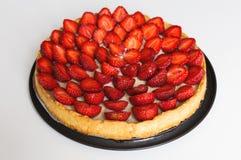 Tarte de fraise, flan de fraise Images stock