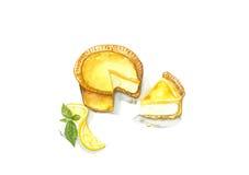 Tarte de fromage de citron Photos stock