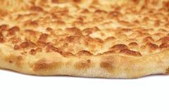 Tarte de fromage rond ou pizza classique de Quatrro Formaggi, Isola blanc Images libres de droits